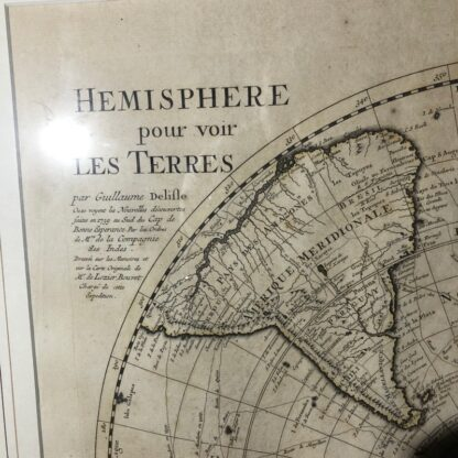 South Hemisphere map, Nouvelle Hollande, by Ottens, Amsterdam 1740 -30909