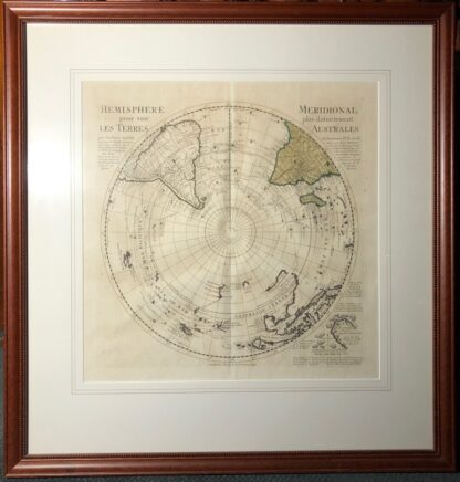 South Hemisphere map, Nouvelle Hollande, by Ottens, Amsterdam 1740 -0