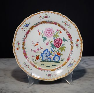 Chamberlains Worcester famille rose Chinese Export style plate