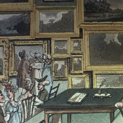 Rowlandson satyrical print, 'EXHIBITION OF WATER COLOURED DRAWINGS' 1808 -30677