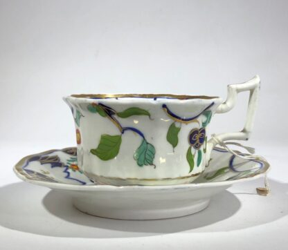 Imari decorated cup & saucer, possibly Grainger's Worcester, c.1835-30351