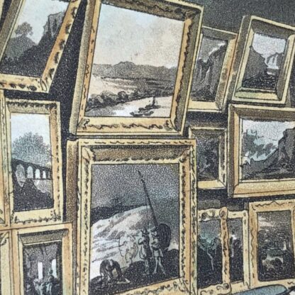 Rowlandson satyrical print, 'EXHIBITION OF WATER COLOURED DRAWINGS' 1808 -30667