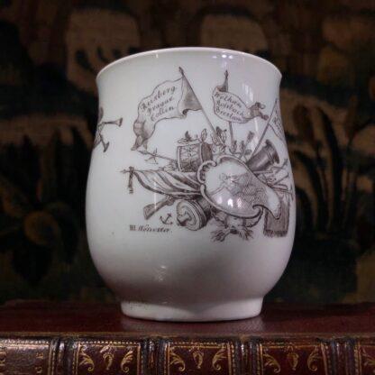 Worcester 'King of Prussia' bell shape mug, c. 1757-31005