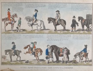 "Georgian Satyrical print - ""Sunday Equestrians or Hyde Park Candidates for Admiration"", after G. M. Woodward 1797-0"