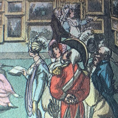 Rowlandson satyrical print, 'EXHIBITION OF WATER COLOURED DRAWINGS' 1808 -30680
