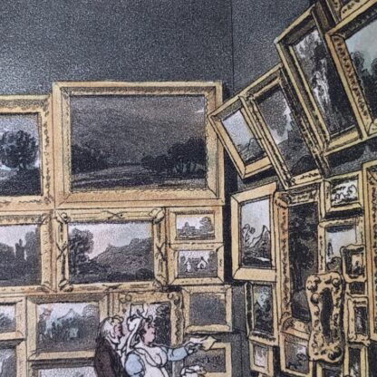 Rowlandson satyrical print, 'EXHIBITION OF WATER COLOURED DRAWINGS' 1808 -30668