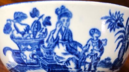 Worcester teabowl, blue 'Mother and Child' print, circa 1775 -30082
