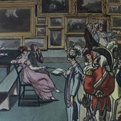 Rowlandson satyrical print, 'EXHIBITION OF WATER COLOURED DRAWINGS' 1808 -30679