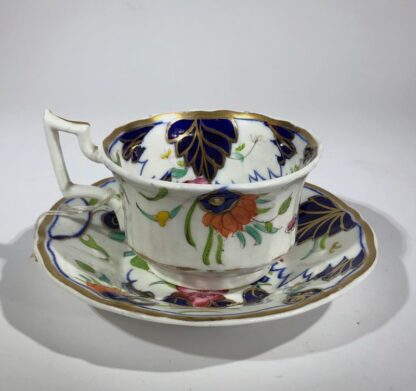 Imari decorated cup & saucer, possibly Grainger's Worcester, c.1835-0