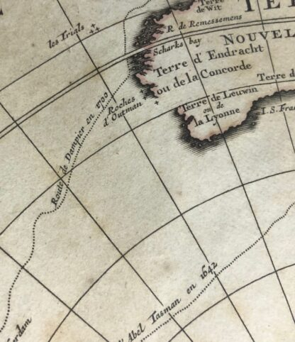 South Hemisphere map, Nouvelle Hollande, by Ottens, Amsterdam 1740 -30916