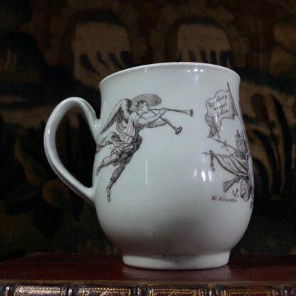 Worcester 'King of Prussia' bell shape mug, c. 1757-31003