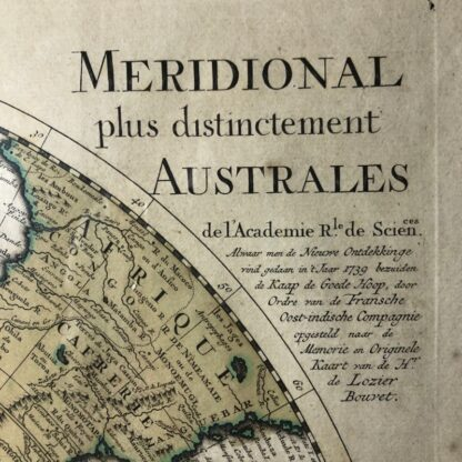 South Hemisphere map, Nouvelle Hollande, by Ottens, Amsterdam 1740 -30912