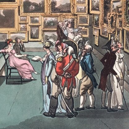 Rowlandson satyrical print, 'EXHIBITION OF WATER COLOURED DRAWINGS' 1808 -30685