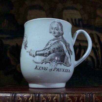 Worcester 'King of Prussia' bell shape mug, c. 1757-0