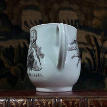 Worcester 'King of Prussia' bell shape mug, c. 1757-31007
