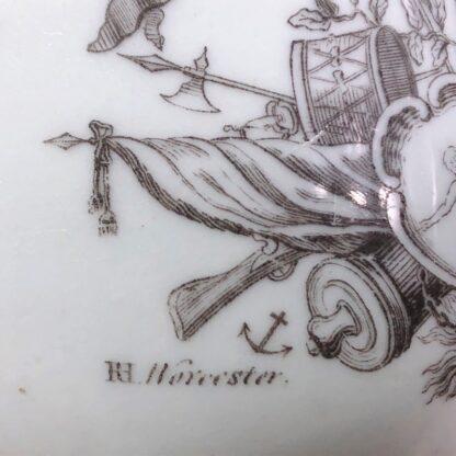 Worcester 'King of Prussia' bell shape mug, c. 1757-31014