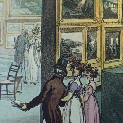Rowlandson satyrical print, 'EXHIBITION OF WATER COLOURED DRAWINGS' 1808 -30676
