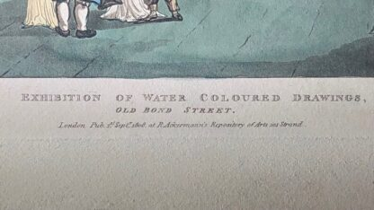 Rowlandson satyrical print, 'EXHIBITION OF WATER COLOURED DRAWINGS' 1808 -30671
