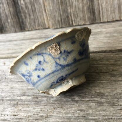 Shipwreck Ceramics: Hoi An teabowl, blue & white flowers, c.1480 -29815