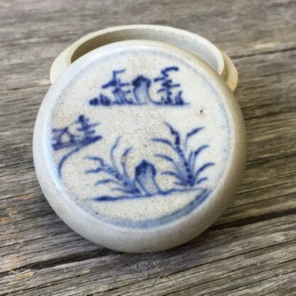 Hoi An Shipwreck blue & white box, landscape, circa 1480 -29856