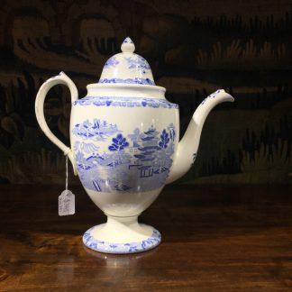 Spode coffee pot, Broseley Pattern, c. 1830-0