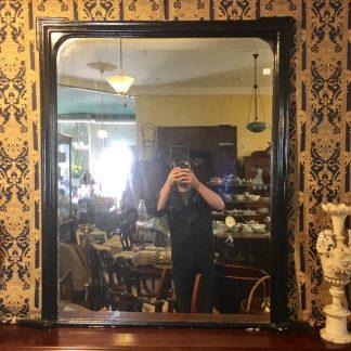 Victorian mantel mirror, black finish, c. 1875 -0