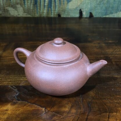 Small Chinese redware Yixing teapot, 20th C-0