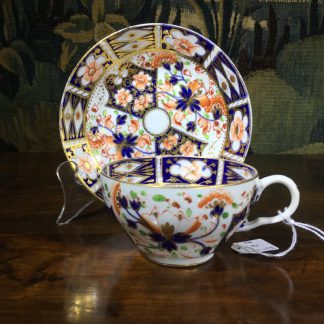 Bloor Derby cup & Saucer, Imari pattern, c. 1880-0