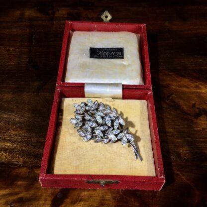 Diamante flower brooch, c. 1950 -30823