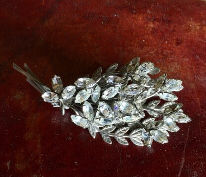 Diamante flower brooch, c. 1950 -30826
