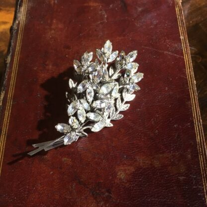 Diamante flower brooch, c. 1950 -30824
