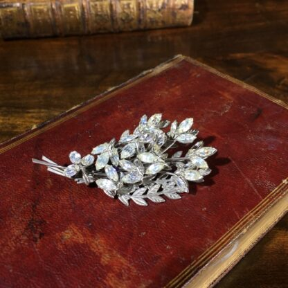 Diamante flower brooch, c. 1950 -0
