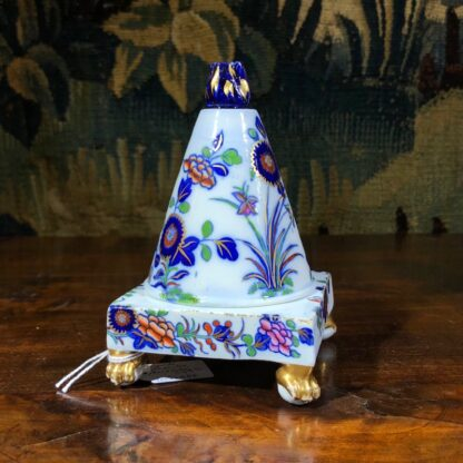 Spode conical shape pastille burner, Imari colours, c.1810. -30845