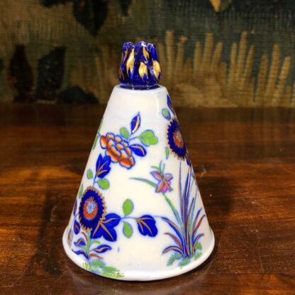 Spode conical shape pastille burner, Imari colours, c.1810. -30846