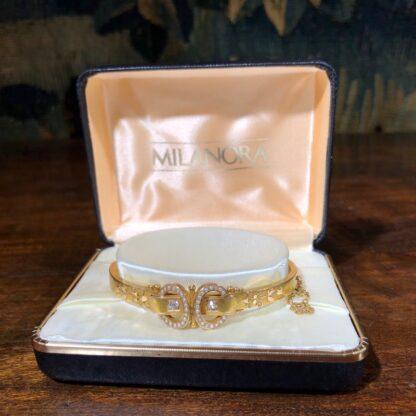 Australian Gold Diamonds & Pearls 'buckle' bracelet, Willis & Sons c.1895 -30839