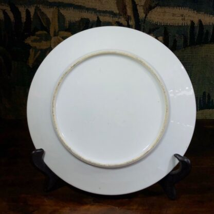 French porcelain plate, hand painted profile, c. 1870-30547