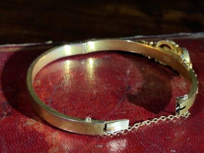 Australian Gold Diamonds & Pearls 'buckle' bracelet, Willis & Sons c.1895 -30830