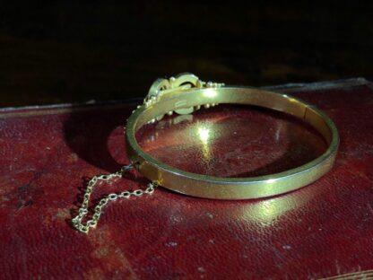 Australian Gold Diamonds & Pearls 'buckle' bracelet, Willis & Sons c.1895 -30829