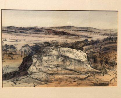 "Kenneth Jack pastel, ""Sacred Rock, Mootwingee"" c.1970 -31282"
