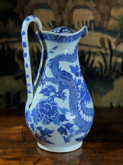 Large Chinese Export ewer, dragons & peonies, c. 1800 -31309