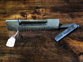 Chinese brass padlock and key, 19th C -0