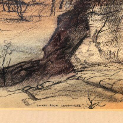 "Kenneth Jack pastel, ""Sacred Rock, Mootwingee"" c.1970 -31291"