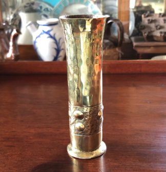 Arts & Crafts brass bud vase, c. 1900 -0