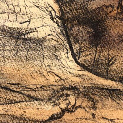 "Kenneth Jack pastel, ""Sacred Rock, Mootwingee"" c.1970 -31290"