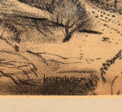 "Kenneth Jack pastel, ""Sacred Rock, Mootwingee"" c.1970 -31281"