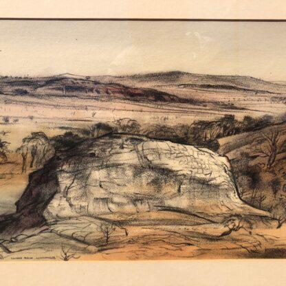 "Kenneth Jack pastel, ""Sacred Rock, Mootwingee"" c.1970 -31288"