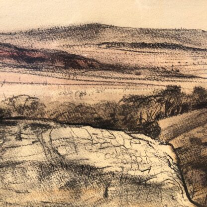"Kenneth Jack pastel, ""Sacred Rock, Mootwingee"" c.1970 -31284"