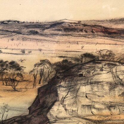 "Kenneth Jack pastel, ""Sacred Rock, Mootwingee"" c.1970 -31286"