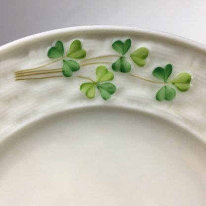 Belleek small dish with clover, black mark, c. 1930 -31062