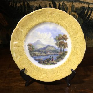 English Pratt pottery printed plate of 'Wales', c. 1860-0